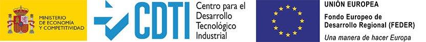 Logo CDTI + FEDER