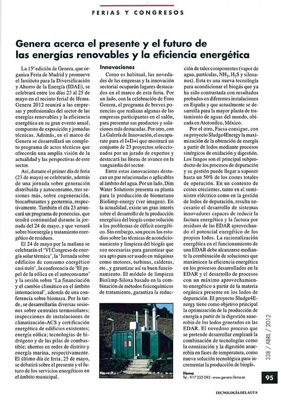 2012 04 01 Tecnología del Agua