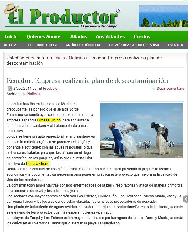 2014 06 24 El Productor de Ecuador