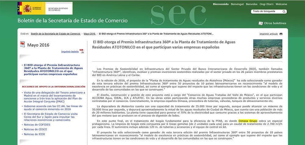 2016 05 10 Boletín de la Secretaría de Estado de Comercio