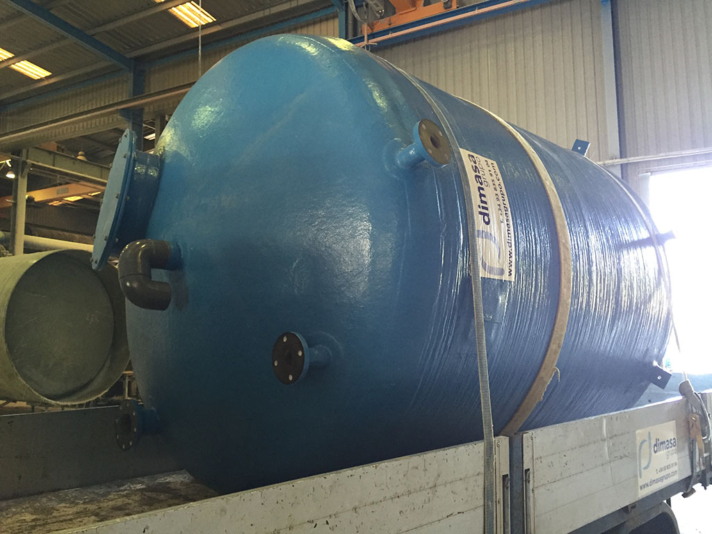 Dimasa Grupo | Tank for water storage in GRP for TEFSA
