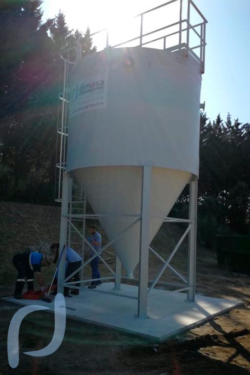 Dimasa grupo un espesador de fangos de 15m3 para la edar for Oficinas canal isabel ii madrid